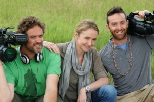 Alexandra and crew in Botswana