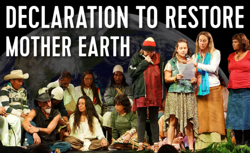 Declaration to Restore Mother Earth
