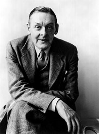 T.S. Eliot circa 1955, from Columbia University's website